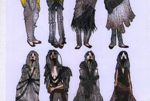 fashion drawings by Raphaëlle Hlimi