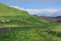 Icelandic farms / The plush green farms of Iceland!