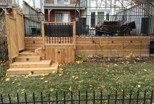 Backyard projects.