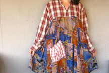 Romantic Patchwork dress upcycled clothing Eco Tattered top up cycled dress…