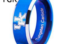 Blue Tungsten Wedding Bands