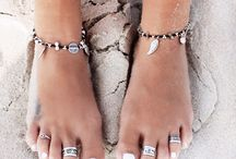 anklets toe rings etc