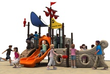 Themed Play Structures / From jungles and pirate ships, all the way out to outer space, these fun themed playground structures are guaranteed to make children use their imagination with also getting some exercise!