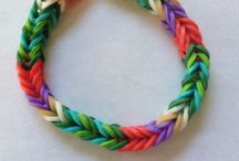 Rubber Band Ideas / Different Ideas to do with the Loom for Abby