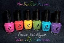 "Amber ""Amber Did It!"" - Color FX Collection Review / Amber aka ""Amber Did It!"" reviewed the Color FX Collection. Read the full review on her blog: http://www.amberdidit.com/2013/07/precision-nail-lacquer-color-fx.html  "" I seriously love these polishes.  The formula is amazing.  They dry fast and all of my swatches are without a top coat.  Do you see that shine???  So, so, so shiny!"""