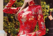 Asian traditional dresses