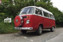 VW camper vans in Cornwall / The VW camper is iconic in Cornwall and here is a selection of great vintage vans we've spotted recently, including our own fantastic LT28 nicknamed The Colonel!
