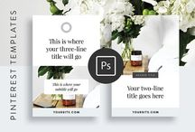 Pinterest Templates / Get noticed, get re-pinned, and blow up your website traffic with these professionally designed templates styled specifically for Pinterest. Premade Pinterest graphics templates that are easy to edit.