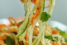 Zucchini and sweet potato noodles