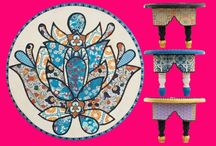 I AM A DREAMER- home collection / One of a kind, handmade, handpainted objects of decoration for your home and for your soul.
