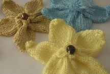 knitted and crochet flowers