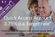 Quick Access Account (QAA) / Our Quick Access Account (QAA) has been established to allow investors to make automatic investments in secured business loans that have passed our strict credit policy. It has a target interest rate return for investors of 3.75% gross per annum capped (this can vary regularly and the current rate will be announced at the start of each month) and benefits from the added protection of our Provision Fund.