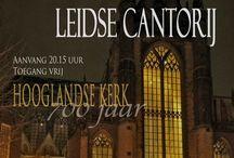 Events / Evensongs Concerts Leidse Cantorij The Choir of Hooglandse Kerk, Leiden, The Netherlands