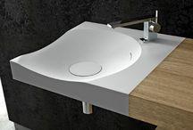 bathroom (corian & wood)