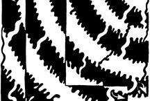 elementary art - optical illusion, Escher, tesselation