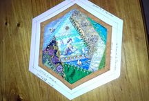 Hexagon Crazy Quilting / by Anne Mann