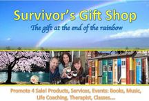 Survivors Healing Gift Shop / SHARE YOUR DREAM, Voices of Victory: Post, Tweet, Sell, Promote, Fundraise your gifts and services. Part of the Survivors Pay it Forward Mission in support of one another. If you have a book, program, product or something to sell get on board. We are spreading the world about our Survivor's Healing Gift Shop. I am developing a new website with the means to sell your gift to the world. Keep you posted.
