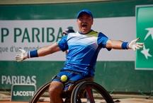 Tennis en fauteuil 2014 / Le tournoi de tennis en fauteuil a vu pour la seconde fois consécutive Stéphane Houdet s'imposer.