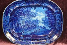 Blue and White Ware / My Grandmother passed down her  Blue Willow Dishes to me . She told me how she and my Grandfather got one piece at a time. I am so proud of owning those dishes to now pass down to the next generation. I also have some Flow Blue which I also love !!