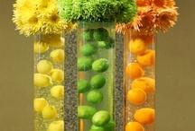 Orange. green & yellow