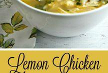 Soups lemon orzo