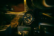 LÜM-TEC Abyss 400M-4 Military Style Watch black orange
