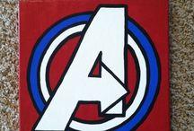 painted canvas-superhero