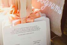 Wedding program skyltar & sånt