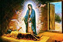 Una de las  apariciones de la virgen de Guadalupe