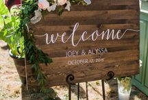 {wedding: welcome sign}