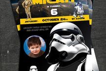 Starwars birthday invitation