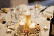 simple elegant centerpieces / by Brandi Leonard