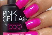 Pink gelnagellak / Nails