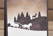 Inspirational Christmas cards / Some Christmas inspirations.