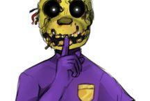 Purple guy springtrap / Fnaf springtrap Vincent purple guy