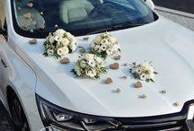 Květinová výzdoba aut - Floral decoration on car