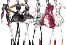 Fashion Sketches (Femme) / Inspiration / moodboards / fashion / haircuts / styling / makeup / more..