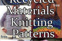 Recycled materials knitting