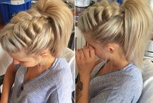 Hairstyle ponytail braided