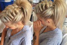 Hairstyle ponytail braided