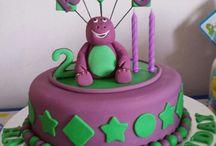 Barney cake / birthday