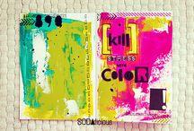 Art Journaling: Journal ideas,Smash/Scrapbooks / by Leah (buttonbox)