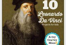 Leonardo da Vinci for Kids / Art history lessons and art activities for kids based on the famous artist Leonardo da Vinci.