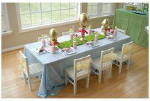 Easter ideas / Kids tablescape