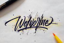 tipografía/caligrafía
