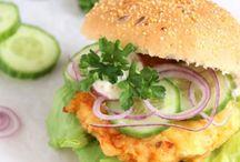 Ham/kipburgers
