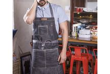 Apron / waxed canvas and leather apron / Work apron /Women's apron / Barber's apron/