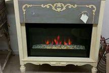 fireplace/dresser