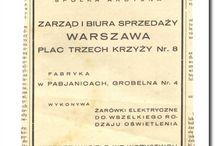 Polska (Poland) - oświetlenie na starej reklamie