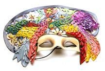 Decoración del hogar  / Títeres, flores, artículos infantiles, máscaras de carnaval y almohadones.